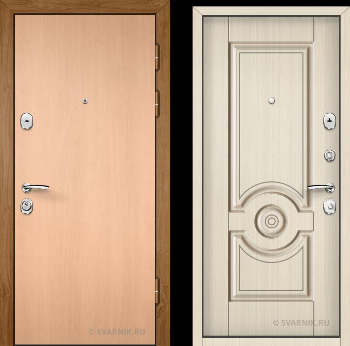 Дверь входная утепленная в офис ламинат - массив