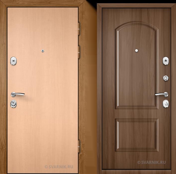 Дверь металлическая усиленная на дачу ламинат - МДФ