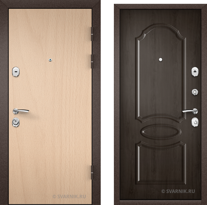 Дверь металлическая внутренняя в офис ламинат - МДФ