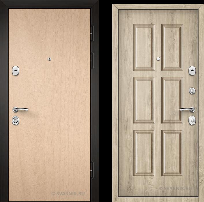 Дверь металлическая с замками KALE в квартиру ламинат - винорит