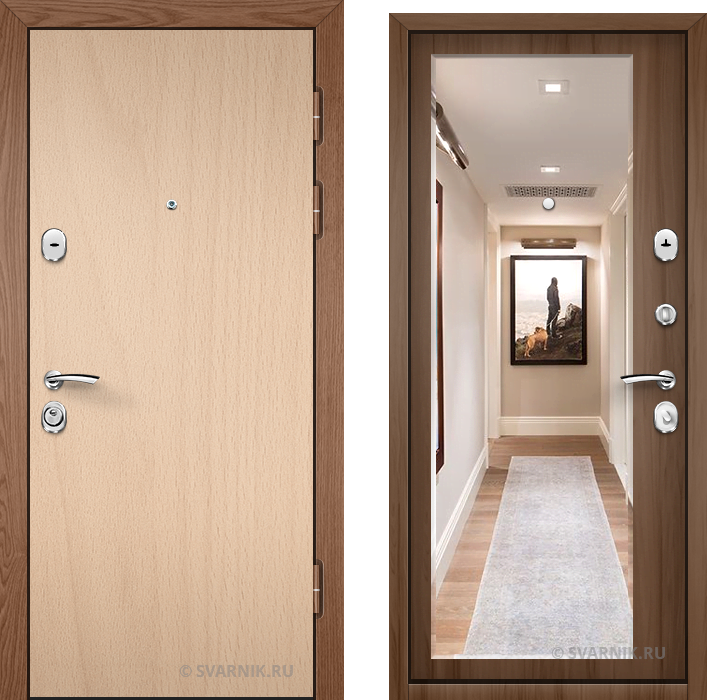Дверь металлическая с шумоизоляцией на дачу ламинат - шпон