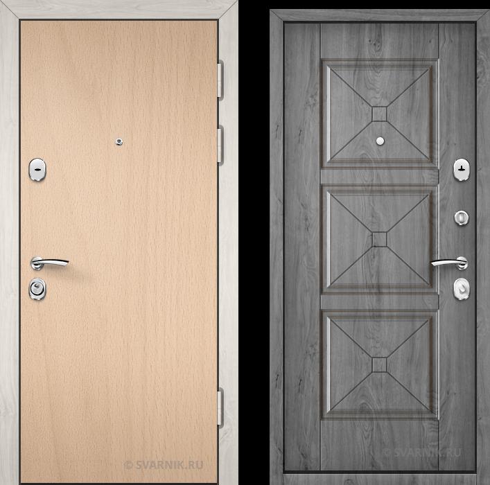 Дверь металлическая утепленная на дачу ламинат - шпон