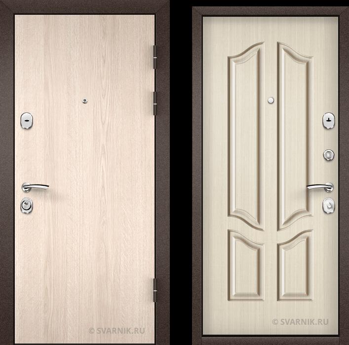 Дверь металлическая накладная уличная ламинат - винорит