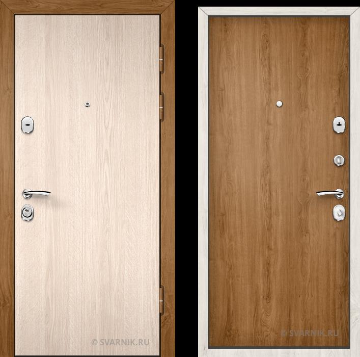 Дверь входная утепленная уличная ламинат - ламинат