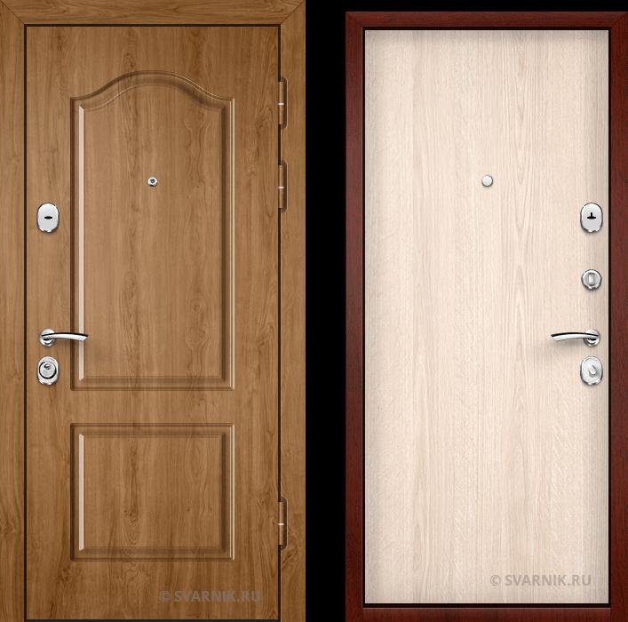 Дверь железная российская в квартиру массив - ламинат